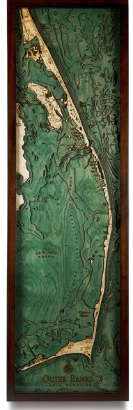 wood 3D map of OBX