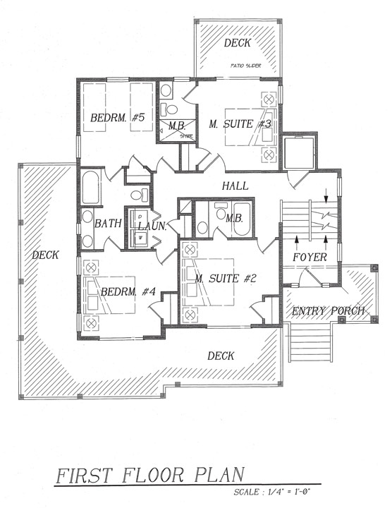 dream beach house floor plan